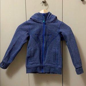 Ivivva Blue & Grey Striped Hoodie
